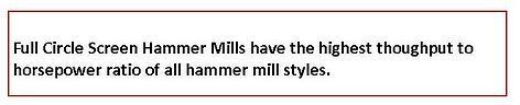 full circle mills.throughput