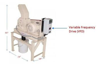 lab scale hammer mill variable frequency drive